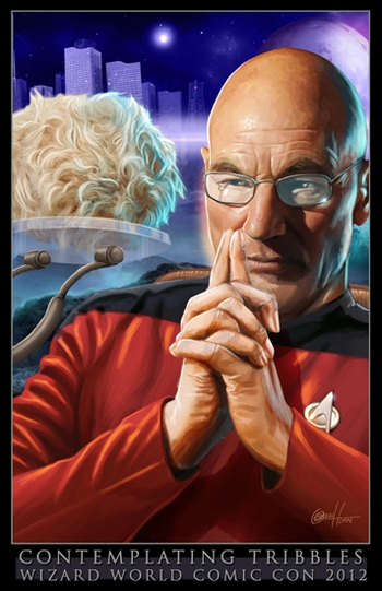 <i>Patrick Stewart, Captain Picard</i>, �Star Trek: TNG� New Orleans Comic Con VIP Exclusive Lithograph by Greg Horn