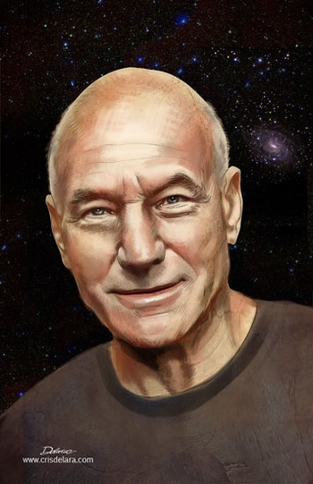 <i>Patrick Stewart</i> Comic Con NYC Experience VIP Exclusive Lithograph by Cris Delara