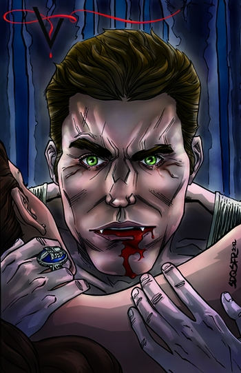Paul Wesley, <i>Stefan Salvatore</i> From �The Vampire Diaries,� Philadelphia Comic Con VIP Exclusive Lithograph by Siddeeq Saafir