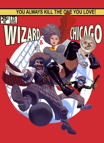 <i>Pirates</i> Chicago Comic Con VIP Exclusive Lithograph by Daniel Acu�a