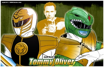 <i>Power Ranger Portraits</i> St. Louis Comic Con Exclusive Print by Joshua Thunderbird