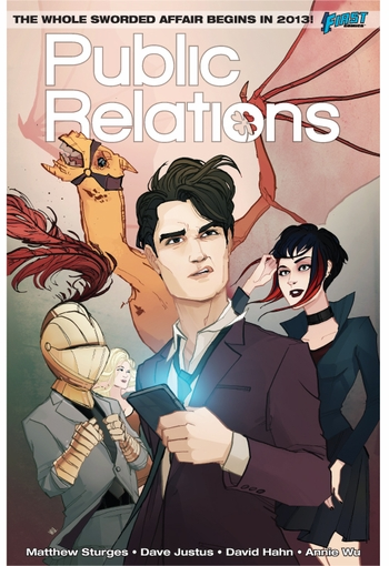 <i>Public Relations</i> Austin Comic Con Wizard World VIP Exclusive Lithograph by Annie Wu (Written by Mathew Sturges)
