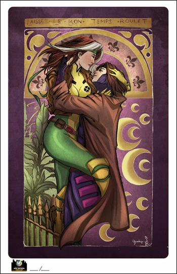 <i>Rogue & Gambit</i> New Orleans Comic Con Exclusive Lithograph by Jason Sobol