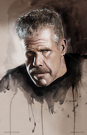 <i>Ron Perlman</i> Portland Comic Con Wizard World VIP Exclusive Lithograph by Rob Prior