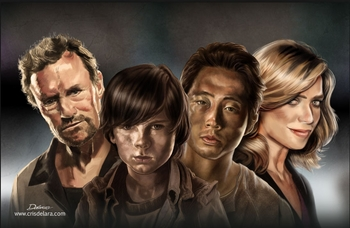<i>Rooker/Holden/Riggs/Yeun</i> Ohio Comic Con VIP Exclusive Lithograph by Cris Delara