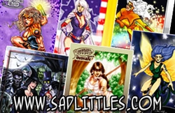 Sadlittles.com 7 card promo set Chicago Comic Con Exclusive!