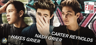 SATURDAY � Wizard World Presents The FAM Tour � Nash Grier, Hayes Grier & Carter Reynolds VIP Experience @ Nashville 2014 EXTREMELY LIMITED!