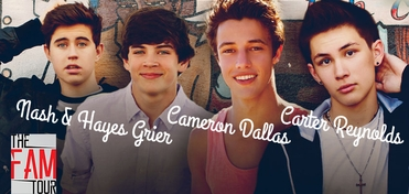 SATURDAY � Wizard World Presents The FAM Tour � Nash Grier, Cameron Dallas, Hayes Grier & Carter Reynolds GROUP Meet & Greet Experience @ San Antonio 2014 EXTREMELY LIMITED!