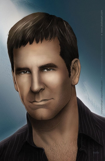 Scott Bakula, <i>Captain Jonathan Archer</i> From �Star Trek: Enterprise,� Philadelphia Comic Con VIP Exclusive Lithograph by Cory Smith