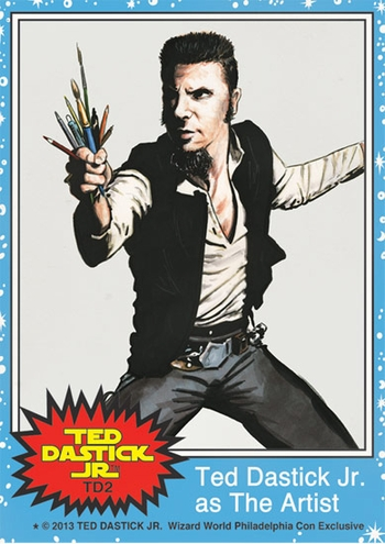 <i>Scoundrel Ted</i> Philadelphia Comic Con Exclusive Promo Trading Card by Ted Dastick, Jr.