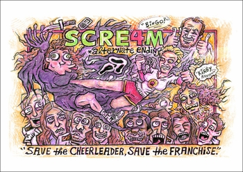 <i>SCREAM 4</i>: Alternate Ending Print by James Lincke of RJA Creations