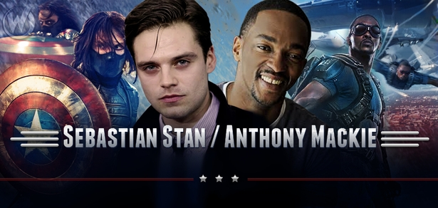 Sebastian Stan <i>Winter Soldier/Bucky Barnes</i> & Anthony Mackie, <i>Sam Wilson/The Falcon</i>, CAPTAIN AMERICA, Coming to Chicago Comic Con!