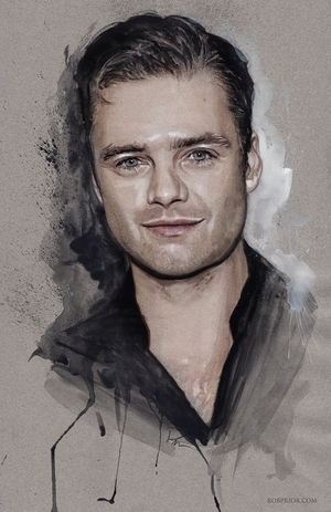 <i>Sebastian Stan</i> Wizard World Comic Con Exclusives Lithograph by Rob Prior