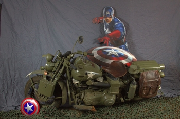 See the REAL Captain America Motorcycle @ Wizard World St. Louis Comic Con, Benefit USO