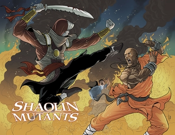 <i>Shaolin Mutants</i> Wizard World VIP Exclusive Lithograph by Pere Perez & EGO