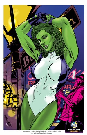 She-Hulk Exclusive Wizard World New Orleans Comic Con Print By Wilfredo Torres & Adrian Johnson