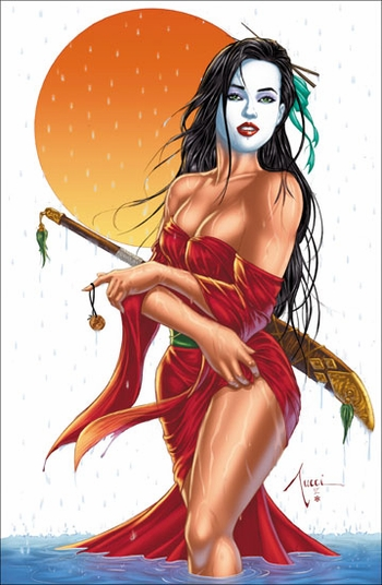 <i>Shi - Sun Shower</i> Philadelphia Comic Con VIP Exclusive Lithograph by Billy Tucci