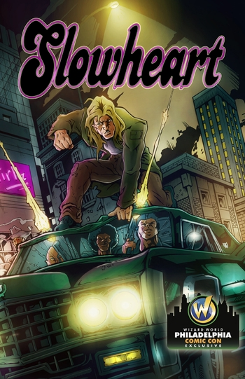 <i>Slowheart Cover Print</i> Philadelphia Comic Con Exclusive Lithograph by Brad Hudson (Pencils & Inks) + Mike Summers (Color)