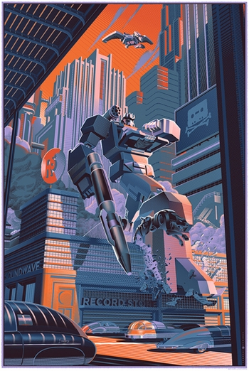<i>Soundwave</i> Philadelphia Comic Con Exclusive Screen Print by Laurent Durieux