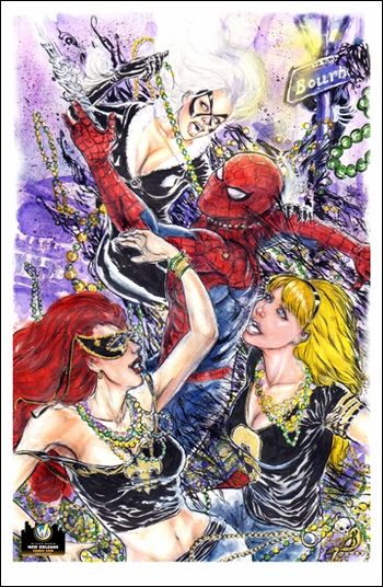 <i>Spidey</i> New Orleans Comic Con Exclusive Lithograph by Vo Nguyen