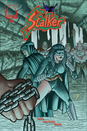 <i>Stalker #4 (Premiering at Wizard World, Conclusion of Donning the Mask)</i> St. Louis Comic Con Exclusive Comic Book Written by Bradley Potts, Illustrated by Trevor Von Eeden, Color & Cover by Blake Wilkie