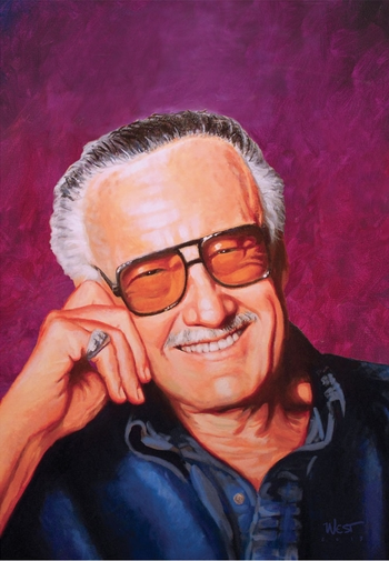 <i>Stan Lee</i> Wizard World NYC Experience VIP Exclusive Lithograph by Scott West