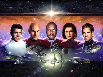 <i>Star Trek Captains</i> Chicago Comic Con VIP Exclusive Lithograph