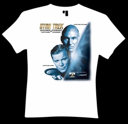 STAR TREK CAPTAINS EXCLUSIVE T-SHIRT @ CHICAGO COMIC CON!