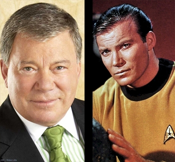 STAR TREK STAR WILLIAM SHATNER BEAMS DOWN TO BIG APPLE COMIC CON!