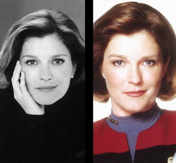 STAR TREK VOYAGER�S KATE MULGREW TAKES COMMAND AT THE BIG APPLE COMIC CON!