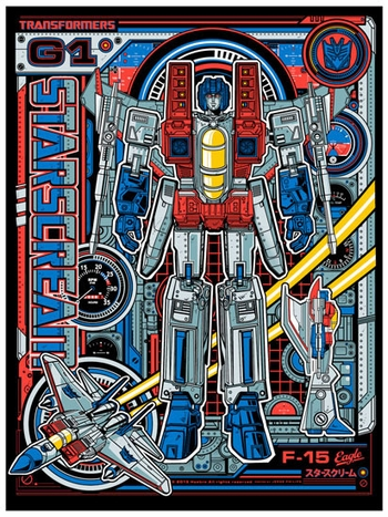 <i>Starscream</i> Philadelphia Comic Con Exclusive Screen Print by Jesse Phillips
