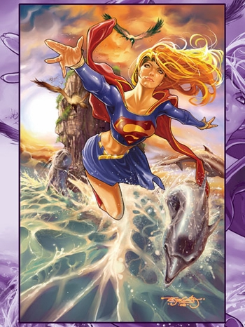 <i>Supergirl</i> Philadelphia Comic Con VIP Exclusive Lithograph by Stephen Segovia