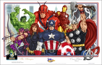 <i>The Avengers</i> Chicago Comic Con Exclusive Lithograph by Kurt Lehner