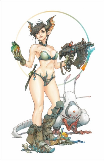 <i>The Bounty Huntress</i> Chicago Comic Con VIP Exclusive Lithograph by Kenneth Rocafort