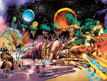 <i>The Dreamer on the Ocean of Story</i> Wizard World VIP Exclusive Lithograph by Vassilis Gogtzilas (Written by J.M. DeMatteis)