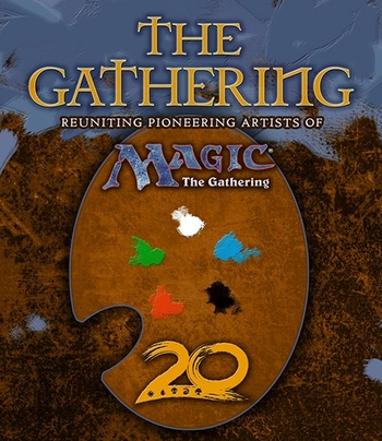 <i>The Gathering: Reuniting Pioneering Artists of Magic: The Gathering</i> New Orleans Comic Con Exclusive Book by 41 Various Artists