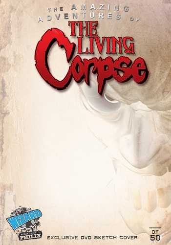 <i>The Living Corpse</i> Philadelphia Comic Con Exclusive DVD Sketch Cover Insert by Ken Haeser & Buz Hasson