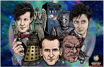 <b><i>The Three Doctors</i> Louisville Comic Con Exclusive by Craig Blake & Kenny Phifer</b>