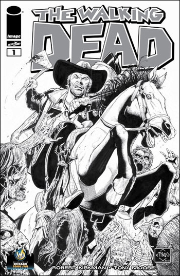 <i>The Walking Dead #1</i> Chicago Comic Con VIP Exclusive Variant Sketch Cover by Ethan Van Sciver