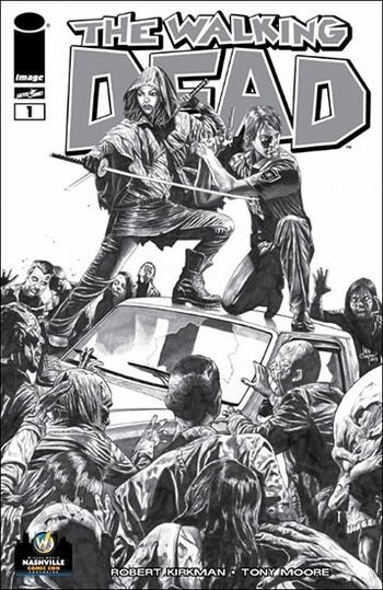 <i>The Walking Dead #1</i> Nashville Comic Con VIP Exclusive Variant Sketch Cover by Mico Suayan