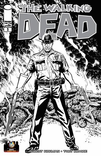 <i>The Walking Dead #1</i> Ohio Comic Con VIP Exclusive Variant Sketch Cover by Mike Zeck