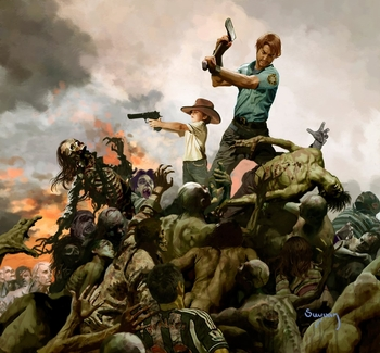 "<i>""The Walking  Dead""</i> Philadelphia Comic Con Exclusive Lithograph by Arthur Suydam"