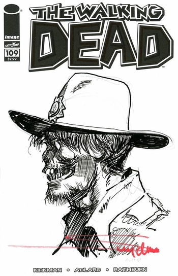 <i>The Walking Dead Sketch Cover</i> by Arthur Suydam
