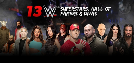Thirteen WWE� Superstars, Hall of Famers, Divas To Attend Six Wizard World Events Through 2014