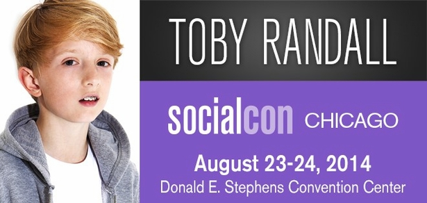 Toby Randall, <i>Social Media Phenom</i>, Coming to socialcon CHICAGO