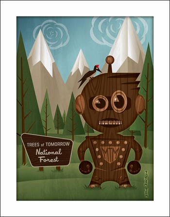 <i>Totem Tom</i> Portland Comic Con Exclusive Print by Nathan Miller (Mr. Tom Morrow Collectible Toys)