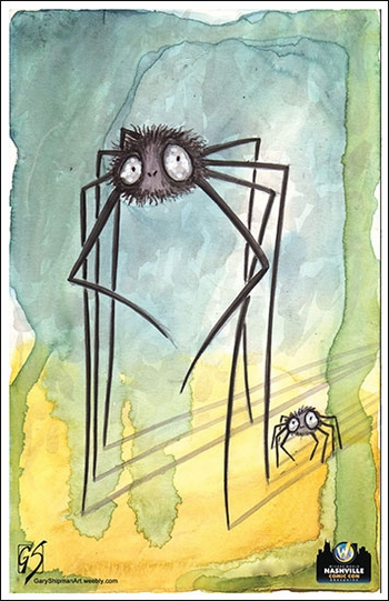 <i>Two Bugs</i> Wizard World Comic Con Volunteer Exclusive Lithograph by Gary Shipman