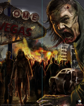 <i>Vegas Zombies</i> St. Louis Comic Con Exclusive Poster by Rob Prior