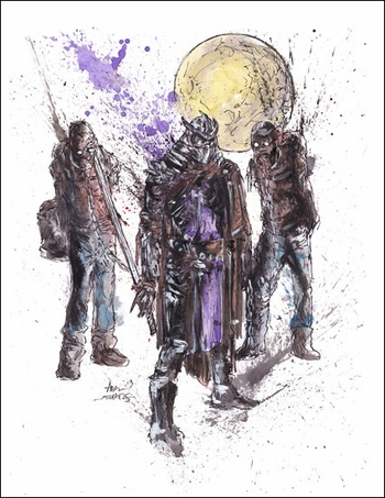 <i>The Walking Shred</i> Chicago Comic Con Exclusive Lithograph by Adam Michaels