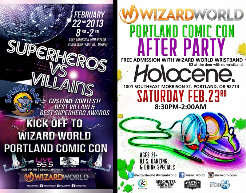 When The Sun Goes Down, Wizard World Portland Parties On!
